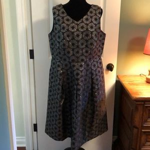 Talbots fit and flare dress never worn with tags